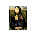 Mona's Doberman Square Sticker 3