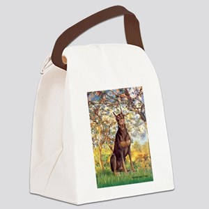 Spring / Doberman Canvas Lunch Bag