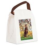Spring / Doberman Canvas Lunch Bag