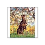 Spring / Doberman Square Sticker 3