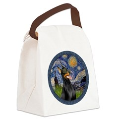 Starry Night Doberman (#1) Canvas Lunch Bag