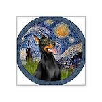 Starry Night Doberman (#1) Square Sticker 3