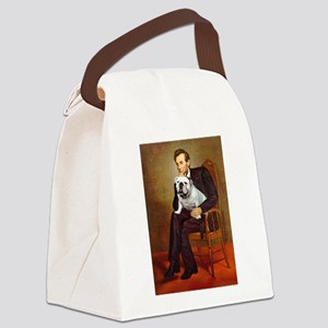Lincoln's English Bulldog Canvas Lunch Bag