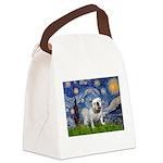 Starry Night English Bulldog Canvas Lunch Bag