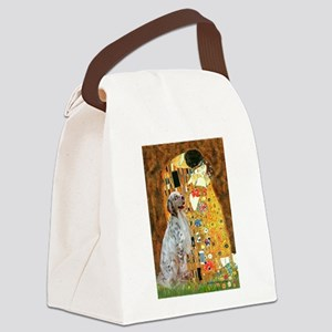 The Kiss / English Setter Canvas Lunch Bag