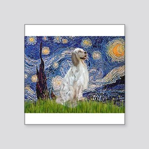 "English Setter / Starry Night Square Sticker 3"" x"