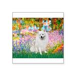 Garden / Eskimo Spitz #1 Square Sticker 3