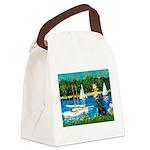 Sailboats / Flat Coated Retri Canvas Lunch Bag