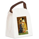 Kiss / Flat Coated Retriever Canvas Lunch Bag