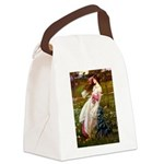 Windflowers / Flat Coated Ret Canvas Lunch Bag