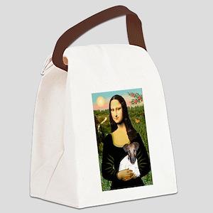 Mona & Fox Terrier Canvas Lunch Bag