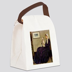Mom's Wire Fox Terrier Canvas Lunch Bag