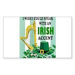 IRISH ACCENT Sticker (Rectangle 50 pk)