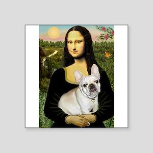 "Mona / Fr Bulldog (f) Square Sticker 3"" x 3"""