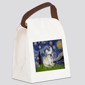 Starry / Fr Bulldog (f) Canvas Lunch Bag