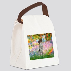 Garden/German Pointer Canvas Lunch Bag