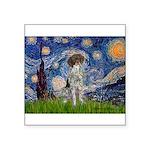 Starry Night /German Short Square Sticker 3