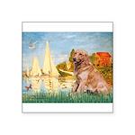 Sailboats (#2) & Golden Square Sticker 3