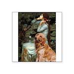 Ophelia & Golden Retriever Square Sticker 3