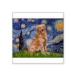 Starry Night Golden Square Sticker 3
