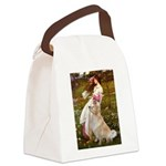 Windflowers / Golden Canvas Lunch Bag