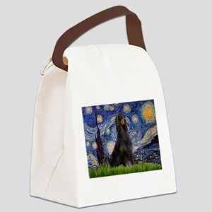 Starry Night & Gordon Canvas Lunch Bag