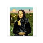 Mona / Gr Dane (bl) Square Sticker 3