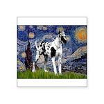 Starry / Gr Dane (h) Square Sticker 3