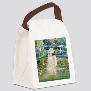 Bridge / Great Pyrenees Canvas Lunch Bag