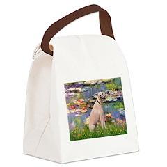 Lilies2/Greyhound (f) Canvas Lunch Bag