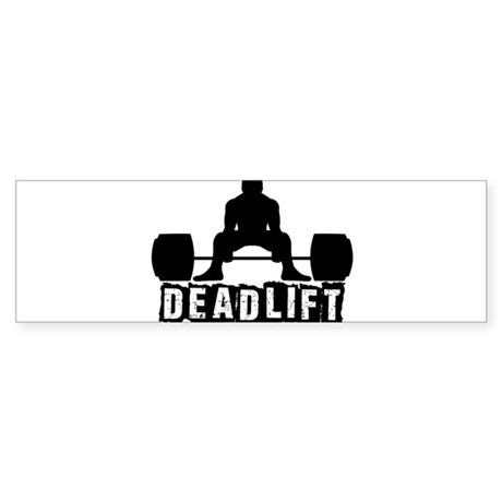 Deadlift Black Sticker (Bumper)