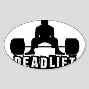 Deadlift Black Sticker (Oval)