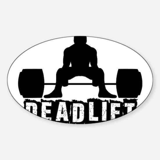 Deadlift Black Sticker (Oval)