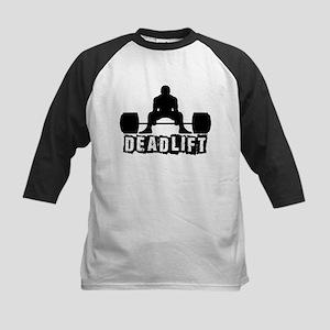 Deadlift Black Kids Baseball Jersey