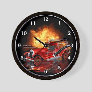 1920 Type 75 Pumper Fire Truck Wall Clock