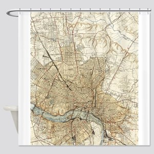 Vintage Map of Richmond Virginia (1 Shower Curtain