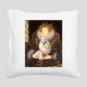 Queen / Havanese Square Canvas Pillow