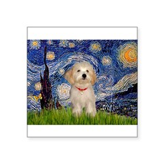 Starry / Havanese Square Sticker 3