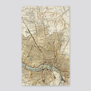 Vintage Map of Richmond Virginia (1934) Area Rug