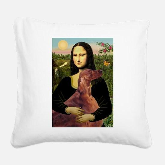 Mona /Irish Setter Square Canvas Pillow