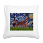 Starry / Irish S Square Canvas Pillow