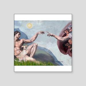 "Creation / Ital Greyhound Square Sticker 3"" x 3"""