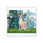 Lilies / Ital Greyhound Square Sticker 3