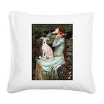 Ophelia / Italian Greyhound Square Canvas Pillow