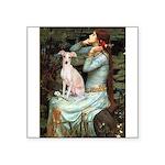 Ophelia / Italian Greyhound Square Sticker 3