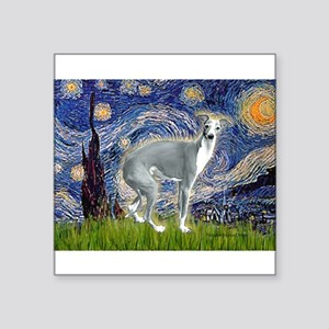 "Starry Night/Italian Greyhoun Square Sticker 3"" x"