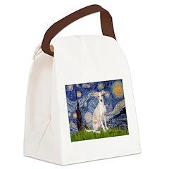 Starry Night / Ital Greyhound Canvas Lunch Bag
