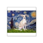Starry Night / Ital Greyhound Square Sticker 3