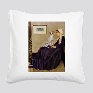 Whistler's / Ital Greyhound Square Canvas Pillow