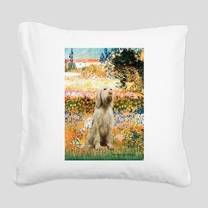 Garden Fiorito/ Spinone Square Canvas Pillow